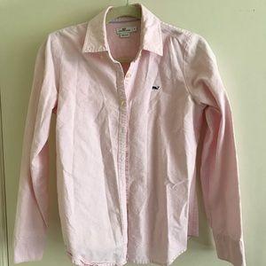 Vineyard Vines pink collared shirt
